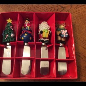 Cheese spreaders Christmas Set of 4
